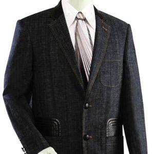 Other - Men's Denim 2pc. Denim W/Faux Leather accents Suit